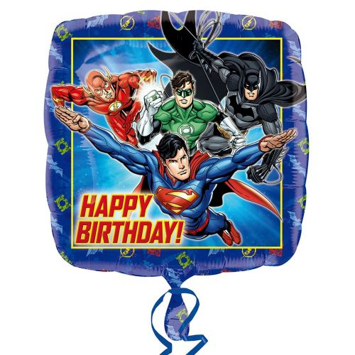 "18"" Justice League Happy Birthday Standard Foil Balloon"
